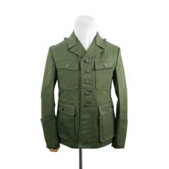 WWII German DAK/Tropical Afrikakorps M43 officer olivebrown field tunic