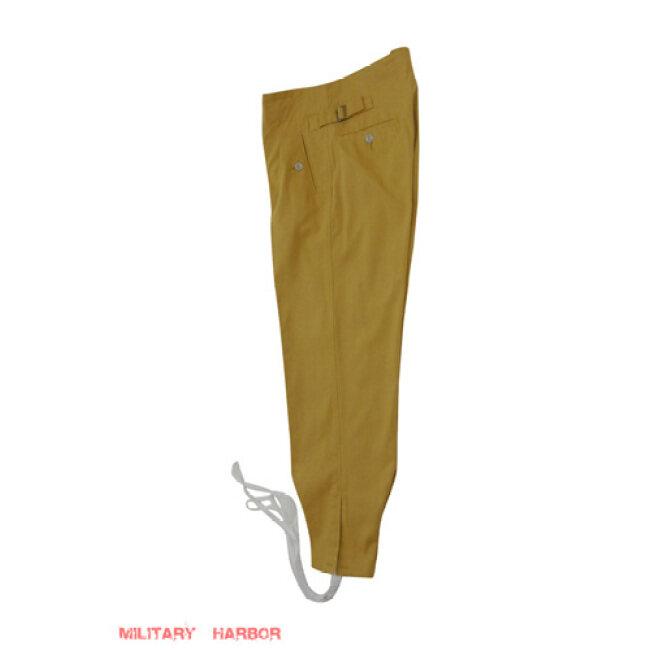 WWII German DAK/Tropical Afrikakorps SS sand trousers M43 - Italian 'SAHARIANA'