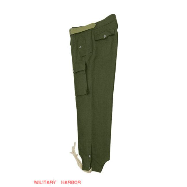WWII German DAK/Tropical Afrikakorps olivebrown Heer panzer trousers
