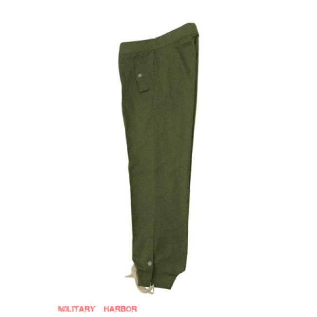 WWII German DAK/Tropical Afrikakorps olivebrown SS panzer trousers