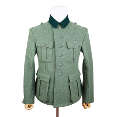 WWII German M36 Heer EM fieldgrey wool tunic Feldbluse (6 buttons)