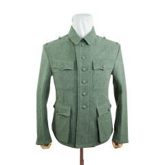 WWII German M42 Heer EM field grey wool tunic Feldbluse