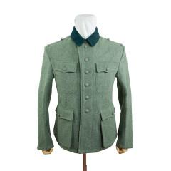 WWII German M42 Modified Heer EM fieldgrey wool tunic Feldbluse