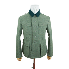 WWII German M43 Modified Heer EM fieldgrey wool tunic Feldbluse