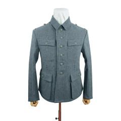 WWII German M43 Heer EM Italian Field Wool tunic Feldbluse blue green grey