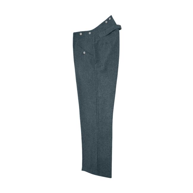 WWII German M40 Italian Field Wool trousers blue green grey