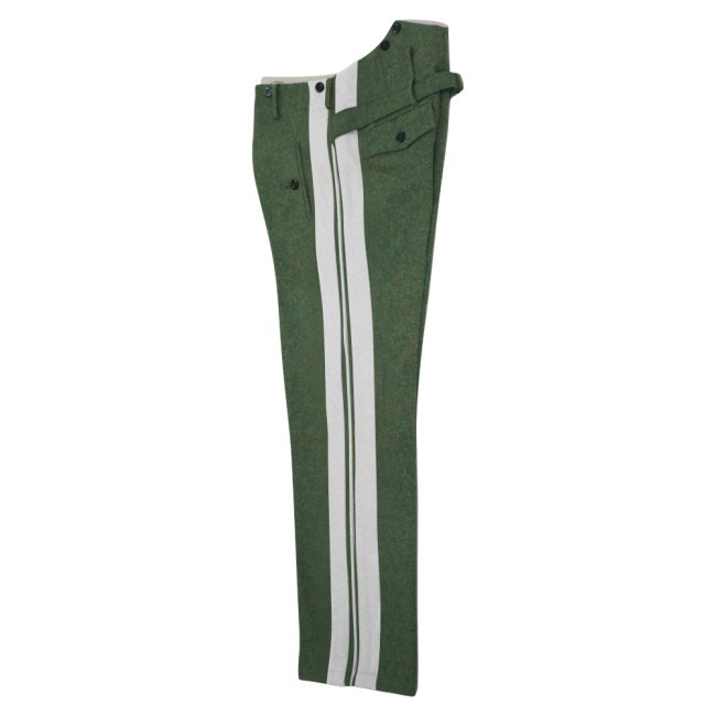 WWII German Heer officer field grey wool straight trousers