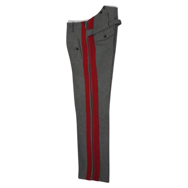 WWII German Heer General stone grey wool straight trousers