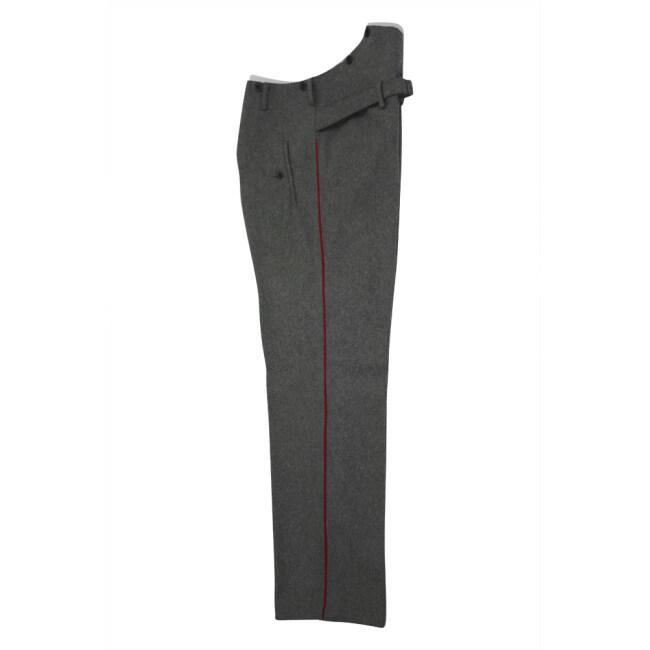 WWII German Heer General waffenrock stone grey wool dress trousers