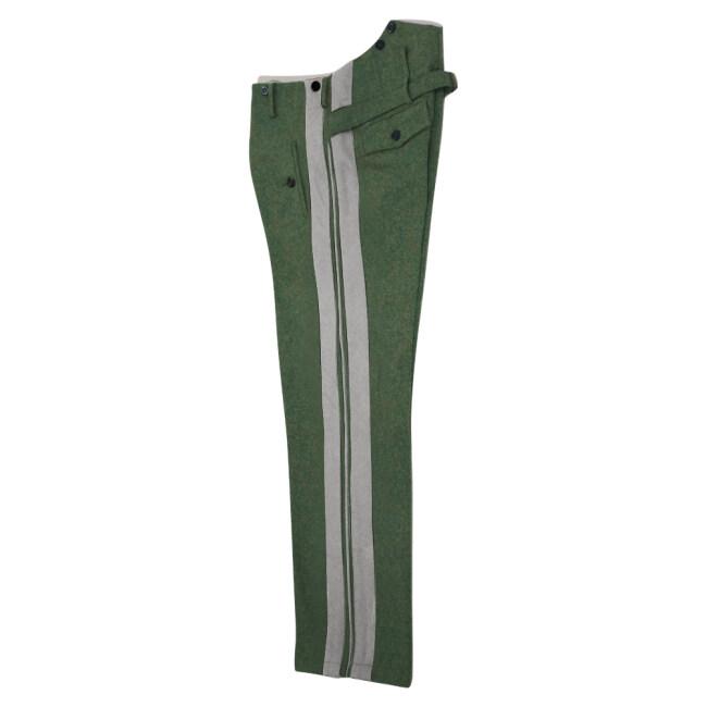 WWII German SS general Field grey wool straight trousers