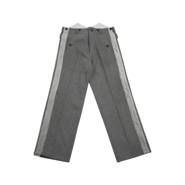 WWII German SS general Stone grey wool straight trousers