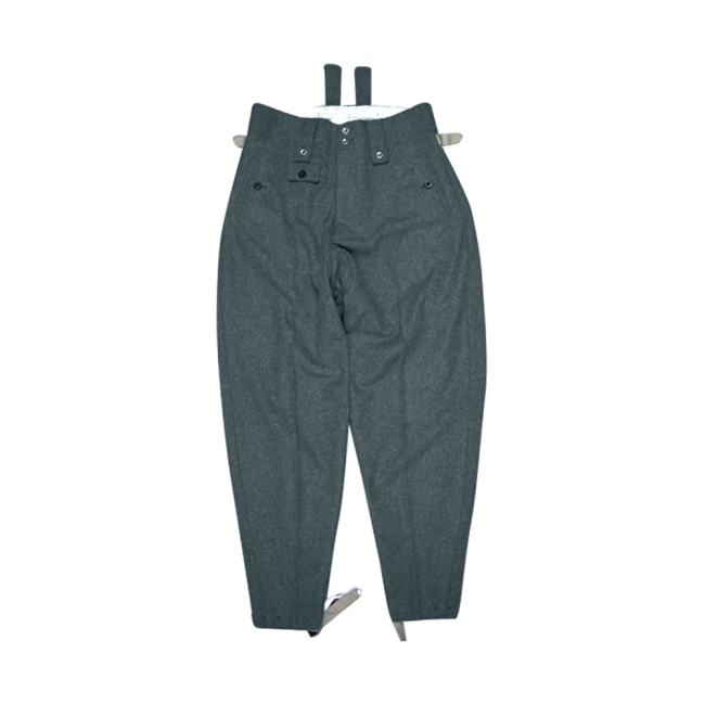WWII German SS M43 Italian Field Wool trousers keilhosen blue green grey