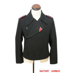 WWII German Heer panzer black wool wrap/jacket