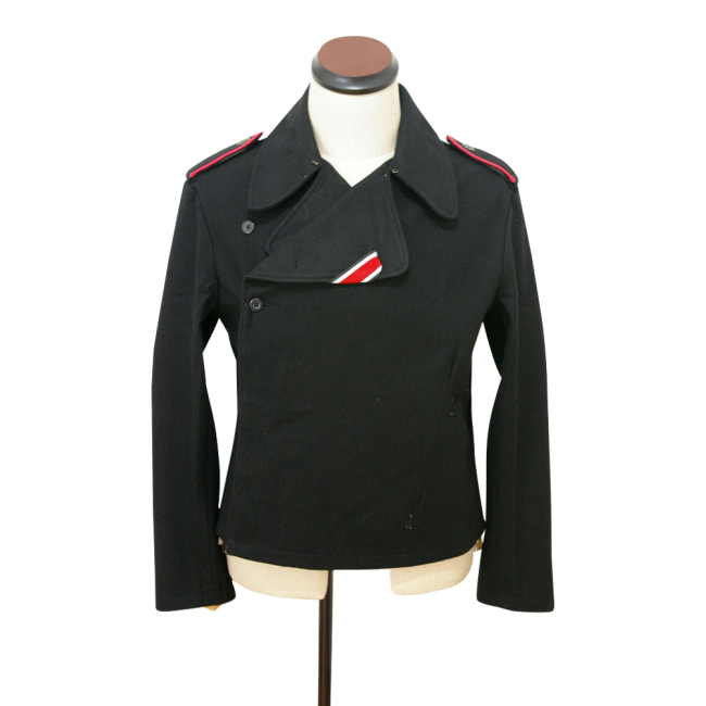 WWII German SS panzer black wool wrap/jacket