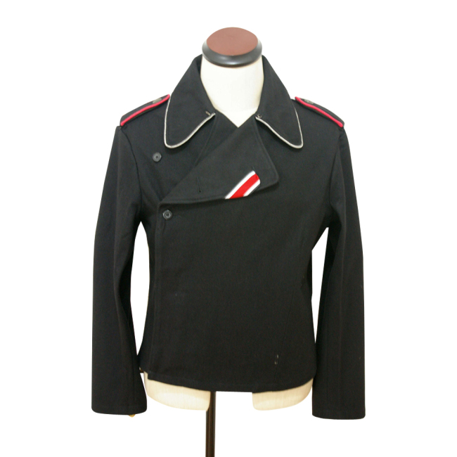 WWII German SS officer panzer black wool wrap/jacket