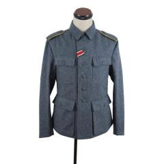 WWII German M43 Luftwaffe blue grey wool tunic