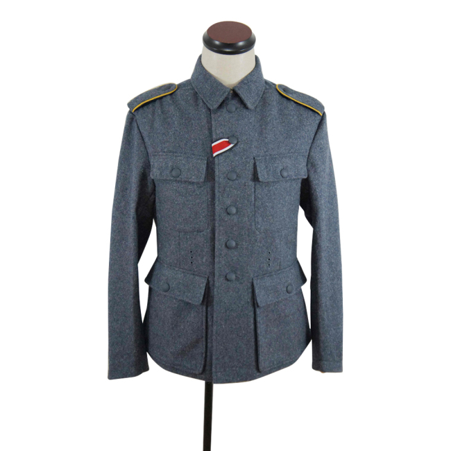 WWII German M43 Luftwaffe blue grey wool tunic