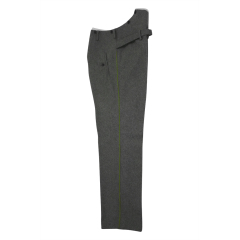 WWII German police officer waffenrock stone grey wool dress trousers