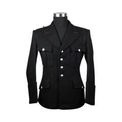 WWII German M32 SS NCO black wool tunic