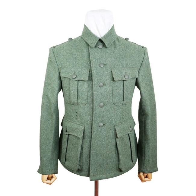 WWII German M40 SS EM fieldgrey wool tunic Feldbluse