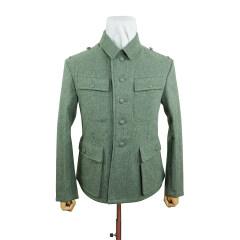 WWII German M43 SS EM fieldgrey wool tunic Feldbluse