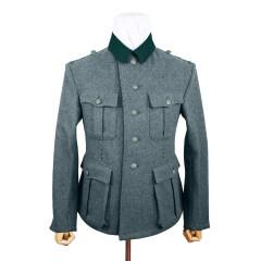 WWII German M39 SS EM Italian Field Wool tunic Feldbluse blue green grey