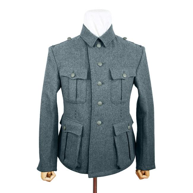 WWII German M40 SS EM Italian Field Wool tunic Feldbluse blue green grey