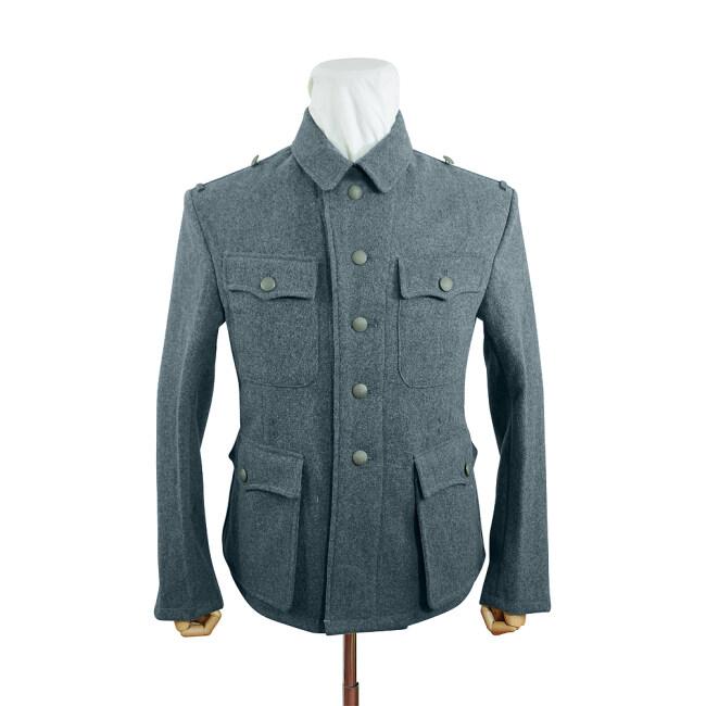 WWII German M42 SS EM Italian Field Wool tunic Feldbluse blue green grey
