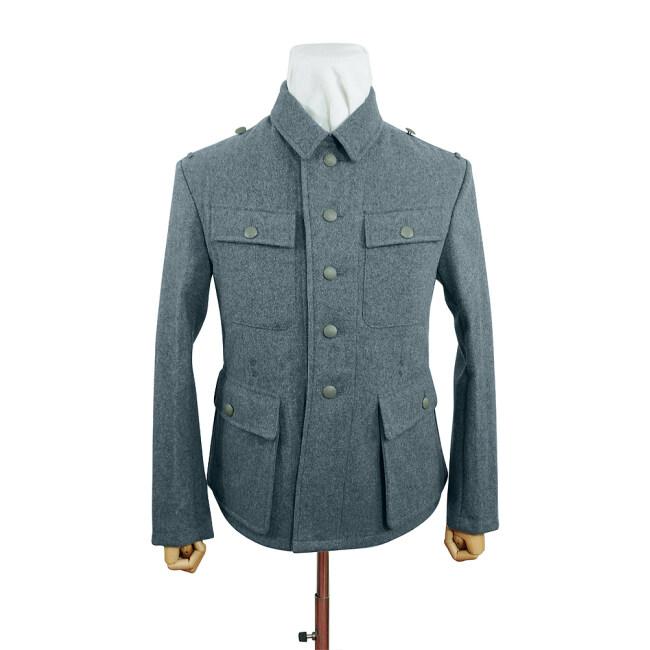 WWII German M43 SS EM Italian Field Wool tunic Feldbluse blue green grey