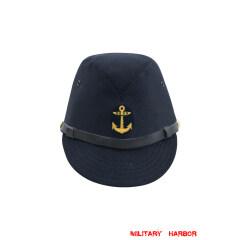 WWII Japanese IJN Navy First Type EM field cap Gabardine Blue  第二次世界大戦 日本帝国海軍 一種 兵用略帽戦闘帽  青/ブルー ギャバジン材料