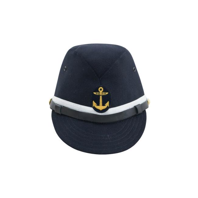 WWII Japanese IJN Navy First Type NCO field cap Gabardine Blue 第二次世界大戦 日本帝国海軍 一種 下士官略帽戦闘帽 青/ブルー ギャバジン材料