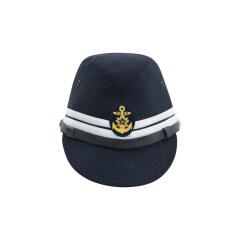 WWII Japanese IJN Navy First Type Officer field cap Gabardine Blue 第二次世界大戦 日本帝国海軍 一種 士官略帽戦闘帽 青/ブルー ギャバジン材料