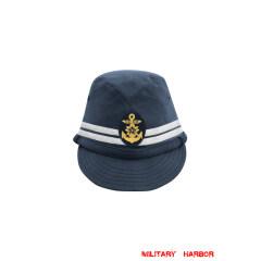 WWII Japanese IJN Navy First Type Officer field cap Blue 第二次世界大戦 日本帝国海軍 一種 士官略帽 青/ブルー