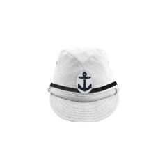 WWII Japanese IJN Navy Second Type NCO field cap White 第二次世界大戦 日本帝国海軍 二種 下士官略帽 白/ワイト