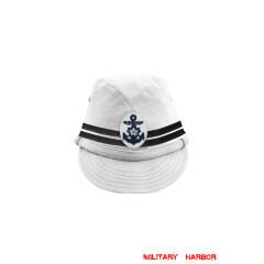 WWII Japanese IJN Navy Second Type Officer field cap White 第二次世界大戦 日本帝国海軍 二種 士官略帽 白/ワイト