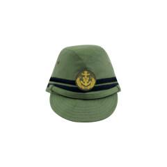 WWII Japanese IJN Navy Third Type Officer field cap Green 第二次世界大戦 日本帝国海軍 三種 士官略帽 緑系