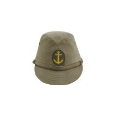 WWII Japanese IJN Navy Third Type EM field cap Khaki 第二次世界大戦 日本帝国海軍 三種 兵用略帽 茶系
