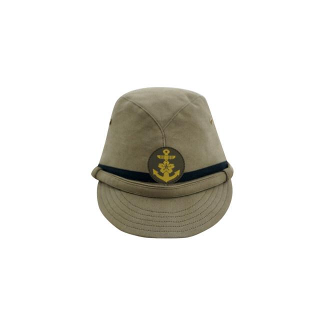 WWII Japanese IJN Navy Third Type NCO field cap Khaki 第二次世界大戦 日本帝国海軍 三種 下士官略帽 茶系