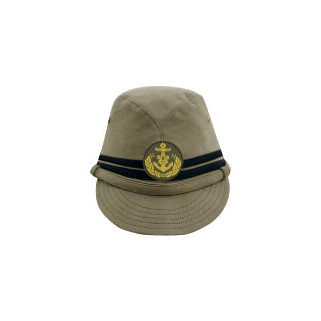 WWII Japanese IJN Navy Third Type Officer field cap Khaki 第二次世界大戦 日本帝国海軍 三種 士官略帽 茶系