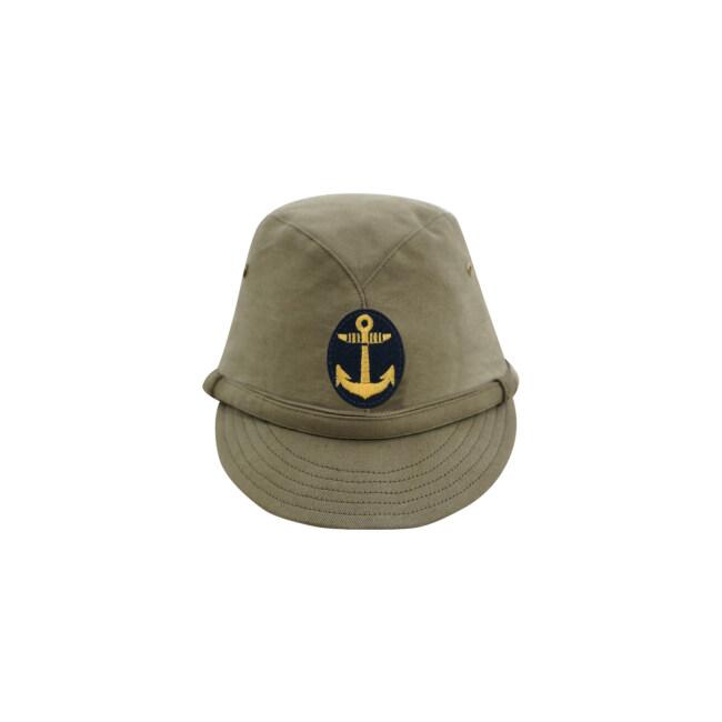 WWII Japanese IJN Navy Third Type EM field cap Khaki later 第二次世界大戦 日本帝国海軍 三種 兵用略帽 後期 茶系