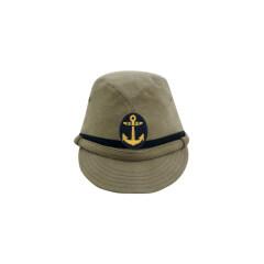 WWII Japanese IJN Navy Third Type NCO field cap Khaki later 第二次世界大戦 日本帝国海軍 三種 下士官略帽 後期 茶系