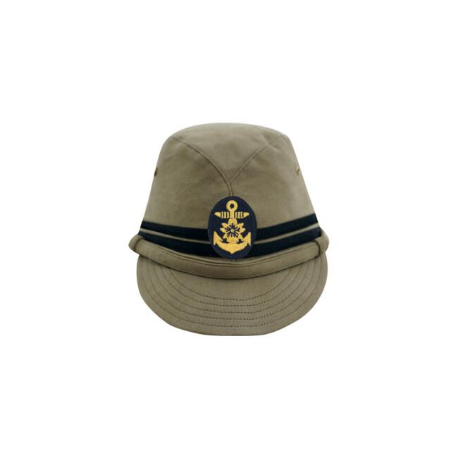 WWII Japanese IJN Navy Third Type Officer field cap Khaki later 第二次世界大戦 日本帝国海軍 三種 士官略帽 後期 茶系