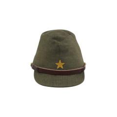 WWII Japanese IJA Army EM field cap Gabardine olive drab 第二次世界大戦 日本帝国陸軍 兵用略帽戦闘帽 ギャバジン製 茶褐色