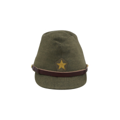 WWII Japanese IJA Army Officer field cap Gabardine olive drab 第二次世界大戦 日本帝国陸軍 士官将校用略帽戦闘帽 ギャバジン製 茶褐色