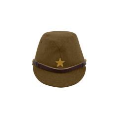 WWII Japanese IJA Army EM field cap wool olive drab 第二次世界大戦 日本帝国陸軍 兵用略帽戦闘帽 ウール 茶褐色