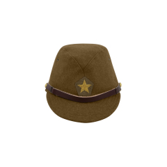 WWII Japanese IJA Army Officer field cap wool olive drab 第二次世界大戦 日本帝国陸軍 士官将校用略帽戦闘帽 ウール 茶褐色