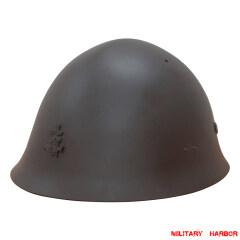 WWII Japanese IJN Combat Steel Type 90 Helmet 第二次世界大戦 日本帝国海軍 90式九零式 鉄兜 鉄帽 ヘルメット