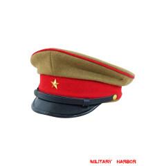 WWII Japanese IJA Army EM visor cap wool yellowish brown 第二次世界大戦 日本帝国陸軍兵用軍帽制帽 ウール 黄褐色