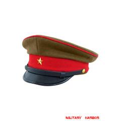 WWII Japanese IJA Army EM visor cap wool olive drab 第二次世界大戦 日本帝国陸軍兵用軍帽制帽 ウール 茶褐色
