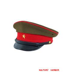 WWII Japanese IJA Army Officer visor cap Gabardine olive drab 第二次世界大戦 日本帝国陸軍将校用制帽 ギャバジン製 茶褐色